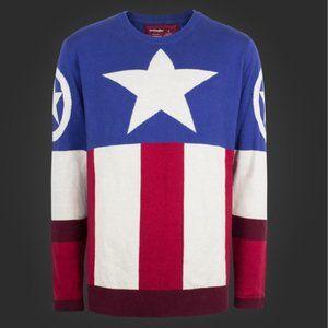 💫 Marvel Captain America Uniform Sweater NEW 3XL